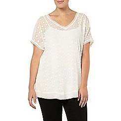 Evans - Live unlimited for evans ivory textured top