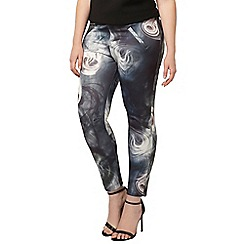Evans - Live unlimited navy smoke print pants