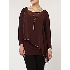 Evans - Live unlimited red stud layer top