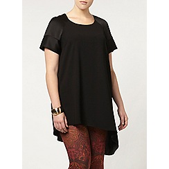 Evans - Live unlimited black asymmetric hem top