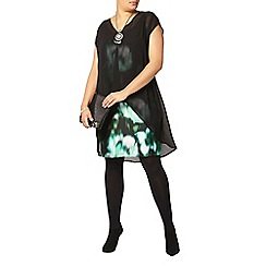 Evans - Live unlimited green print dress