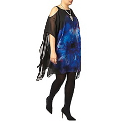 Evans - Live unlimited blue cutout shoulder dress