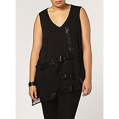 Evans - Live unlimited sequin trim top