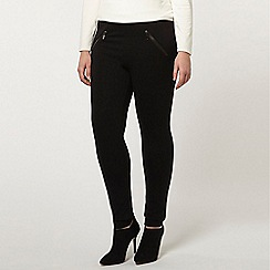 Evans - Live unlimited ponte zip trousers