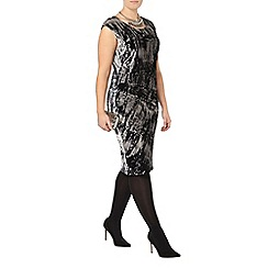 Evans - Live unlimited printed velour dress