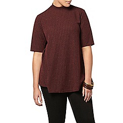 Evans - Collection red rib top