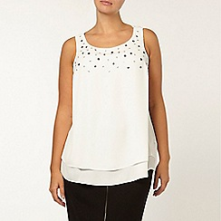 Evans - Collection eyelet trim top