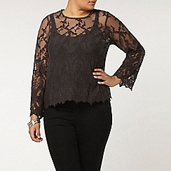 Evans - Collection grey lace top