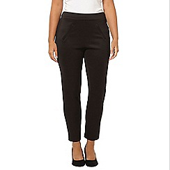 Evans - Black scuba trousers