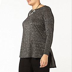 Evans - Collection glitter jersey top