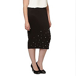 Evans - Collection eyelet skirt