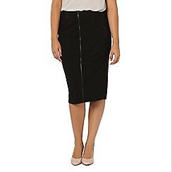 Evans - Jersey zip front skirt