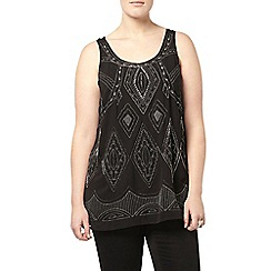 Evans - Collection black embellished top