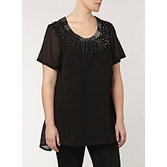 Evans - Collection embellished neck top