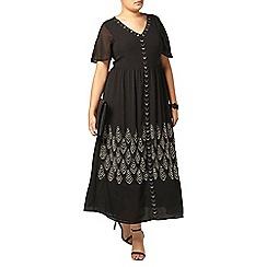 Evans - Collection black embellished maxi dress