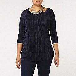 Evans - Live unlimited navy pleat top