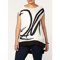 Evans - Ivory printed top