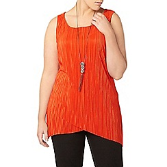 Evans - Red pleated top