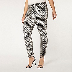 Evans - Live unlimited print scuba trousers