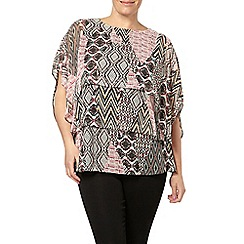Evans - Aztec print layer top