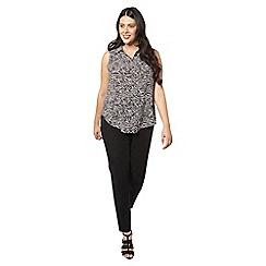 Evans - Ivory zebra sleeveless shirt