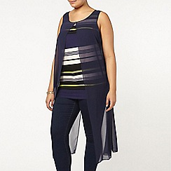 Evans - Live unlimited stripe chiffon top