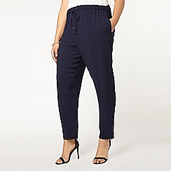 Evans - Live unlimited navy drawstring trousers