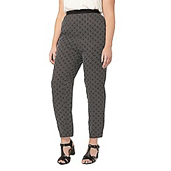 Evans - Black printed tapered trouser