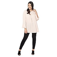 Evans - Pink frill sleeve blouse
