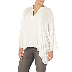 Evans - Live unlimited ivory oversized blouse