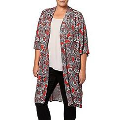 Evans - Paisley print kimono