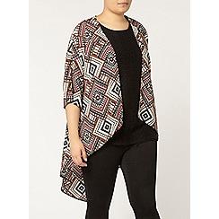 Evans - Tribal print kimono