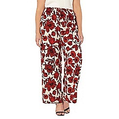 Evans - Live unlimited floral wide leg trousers
