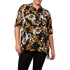 Evans - Floral print oversized shirt