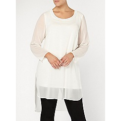 Evans - Live unlimited ivory layered tunic