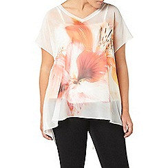 Evans - Live unlimited floral print layered top