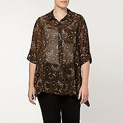Evans - Oversized print shirt