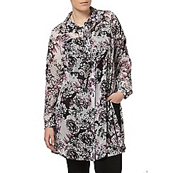 Evans - Purple floral shirt