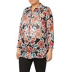 Evans - Floral print shirt