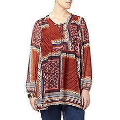 Evans - Print patchwork tunic