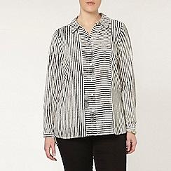 Evans - Ivory stripe shirt