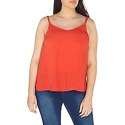 Evans - Red strappy camisole