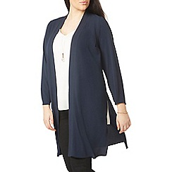 Evans - Navy blue longline cover up