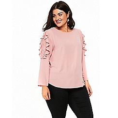 Evans - Pink lace pebble top