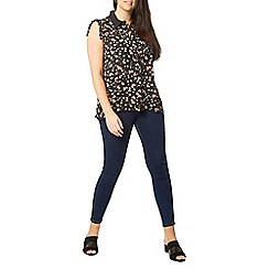 Evans - Black floral sleeveless shirt