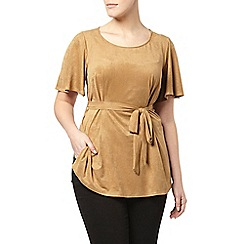 Evans - Brown suede tunic