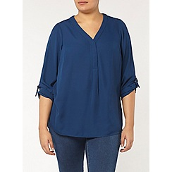 Evans - Navy woven workwear shirt