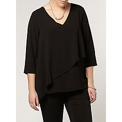 Evans - Black asymetric layer top