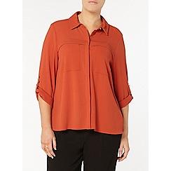 Evans - Rust orange workwear shirt