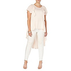 Evans - Collection blush pink ruffle top